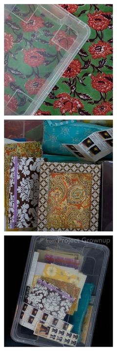 Letter Bin Collage