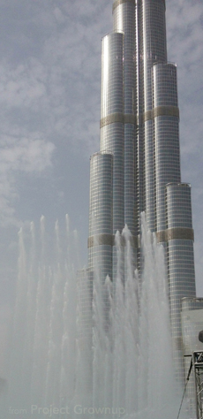 Burj Khalifa Fountain Practice in Dubai