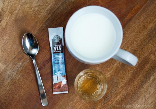 Cheater Latte Ingredients.