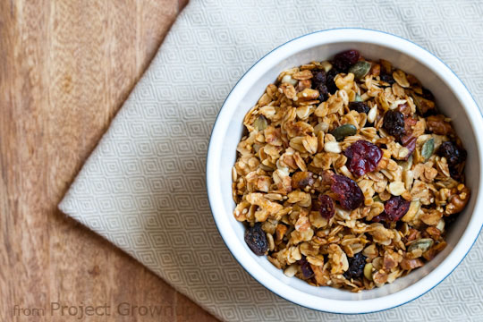 Easy Homemade Granola. Use your pantry to make healthier granola. (Best Part? You don't need a recipe.) Pin for future reference!